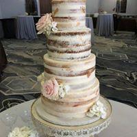 multiple flavor wedding cake