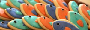 fished themed cookies